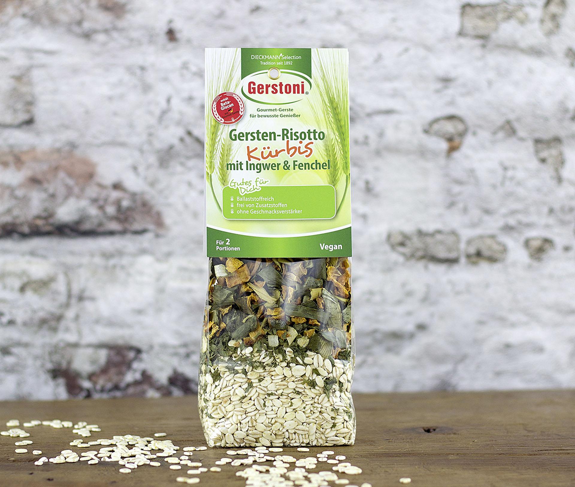Gersten Kürbis-Risotto mit Ingwer & Fenchel
