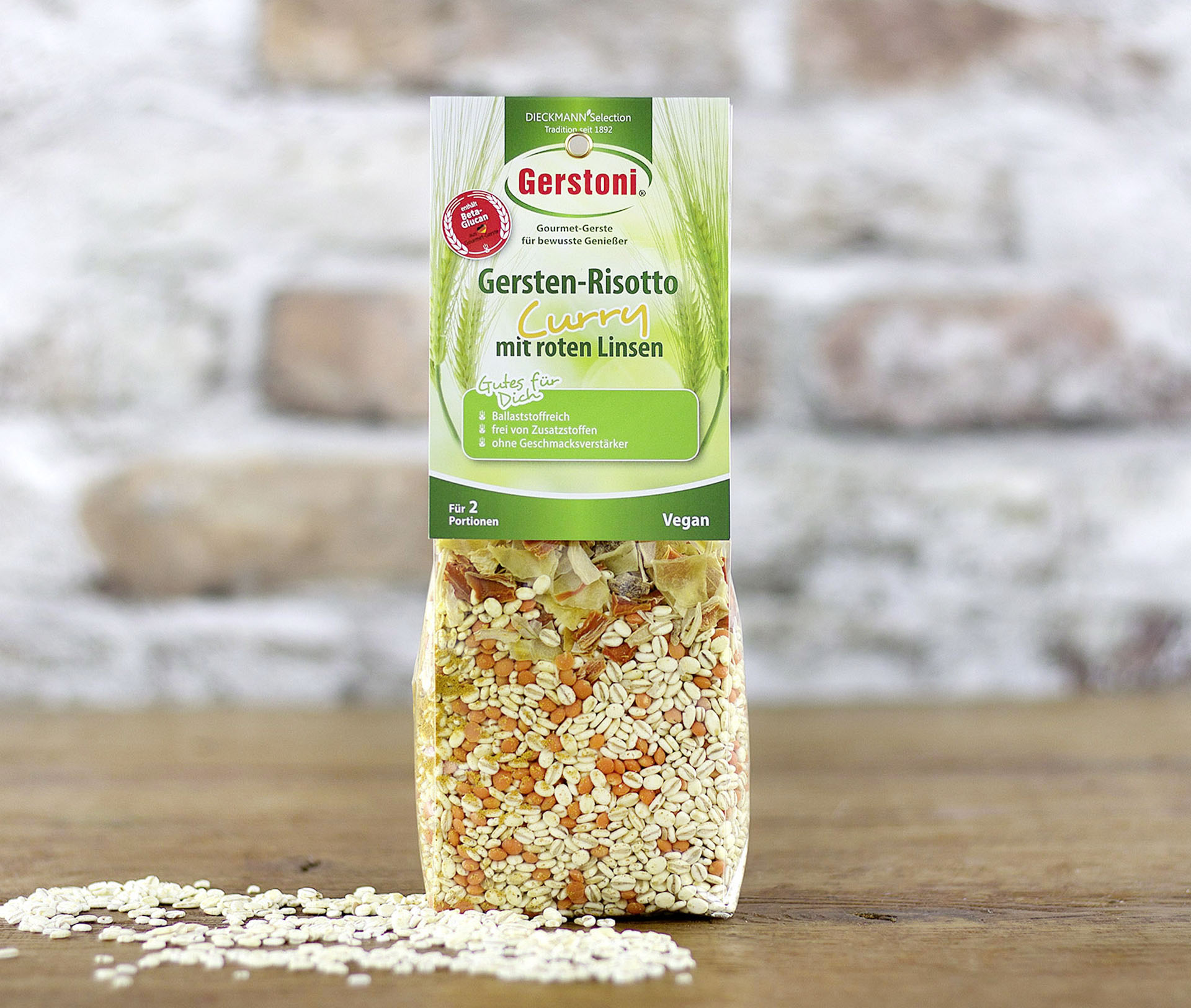 Gersten-Risotto Curry mit roten Linsen