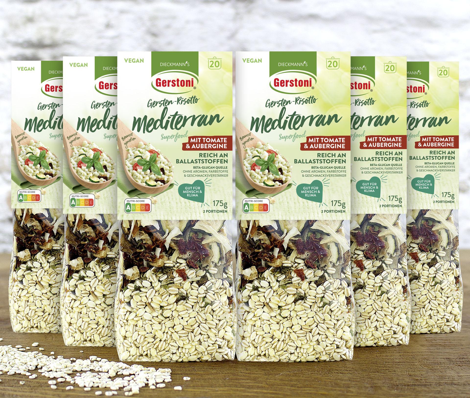 SPARPAKET Gersten-Risotto Mediterran Tomate & Aubergine 6er