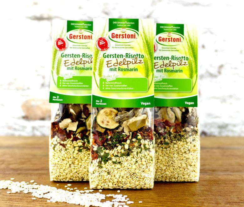Gersten-Risotto mit Edelpilzen & Rosmarin 3er-Pack