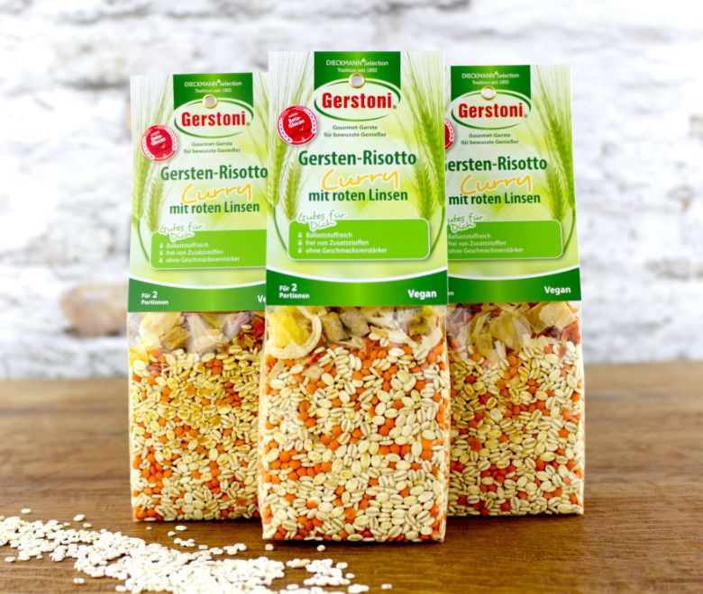 Gersten-Risotto Curry mit roten Linsen 3er-Pack