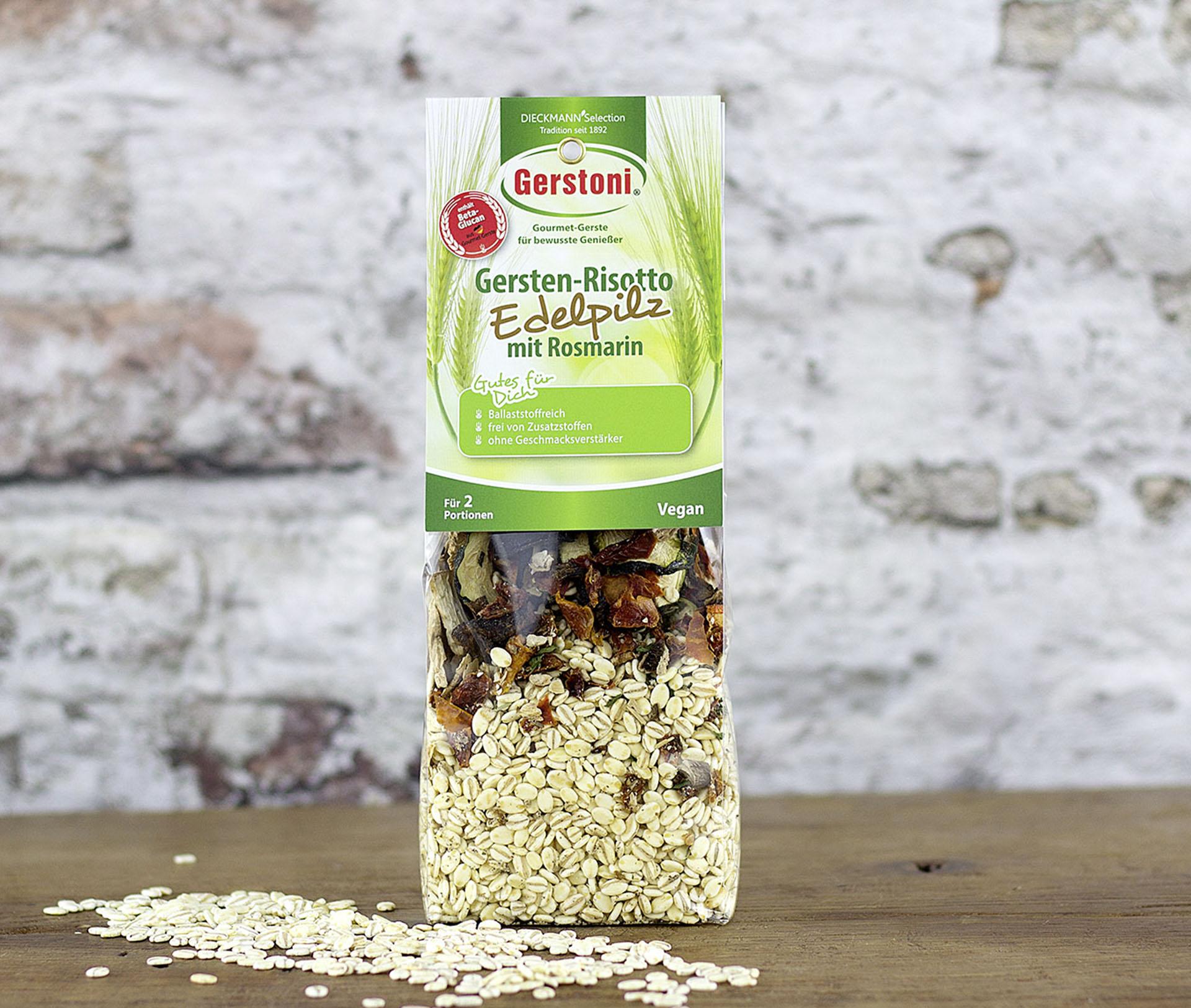 Gersten-Risotto mit Edelpilzen & Rosmarin