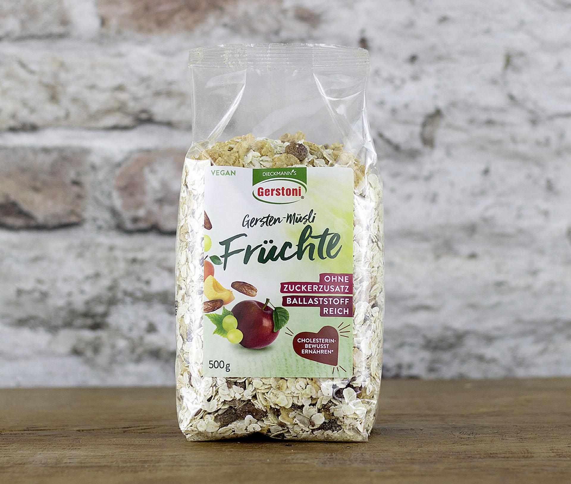 Gersten-Müsli Früchte