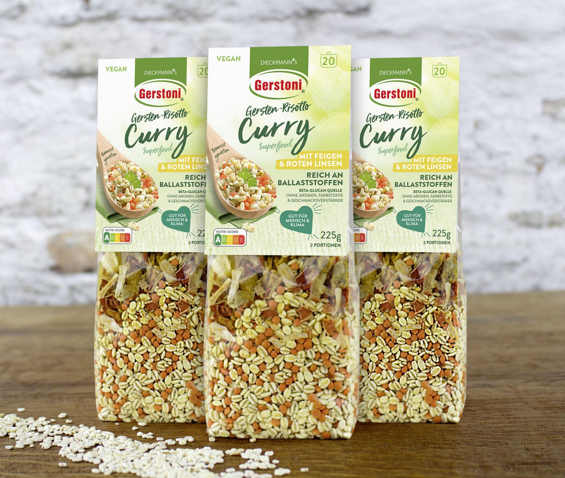 Gersten-Risotto Curry mit roten Linsen 3er-Pack