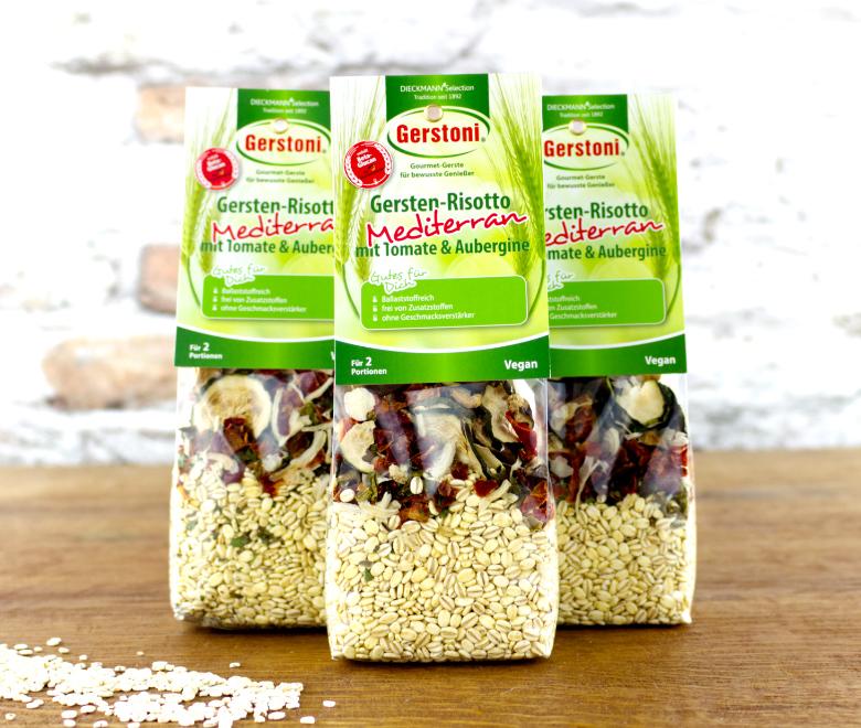 Gersten-Risotto Mediterran Tomate & Aubergine 3er-Pack