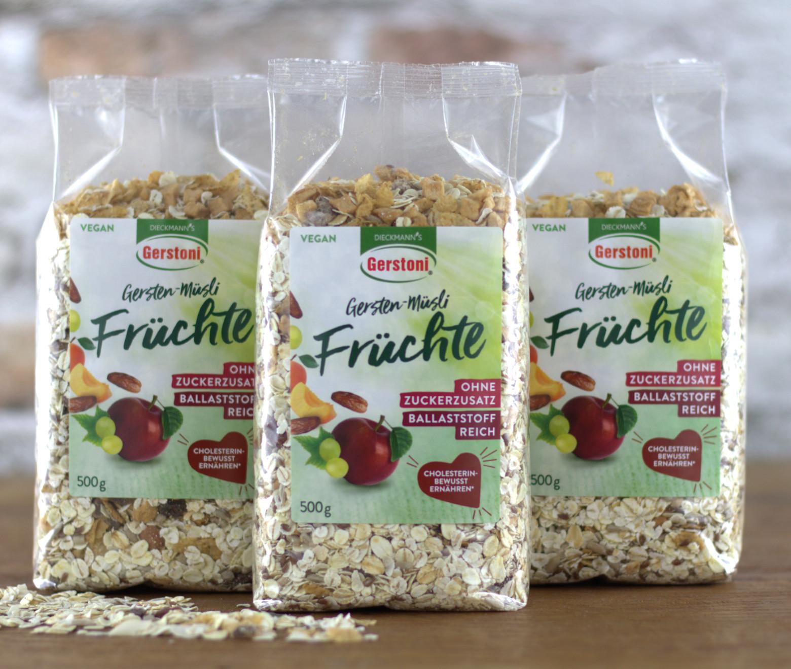 Gersten-Müsli Früchte 3er-Pack